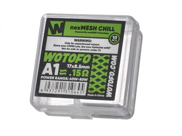 Wotofo nexMESH Chill A1 Coil (10 Stück pro Packung)